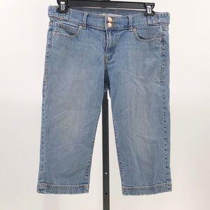 😍 Old Navy classic rise denim capri jeans 10